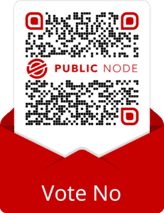 QR Code for Public Node used for Voting No