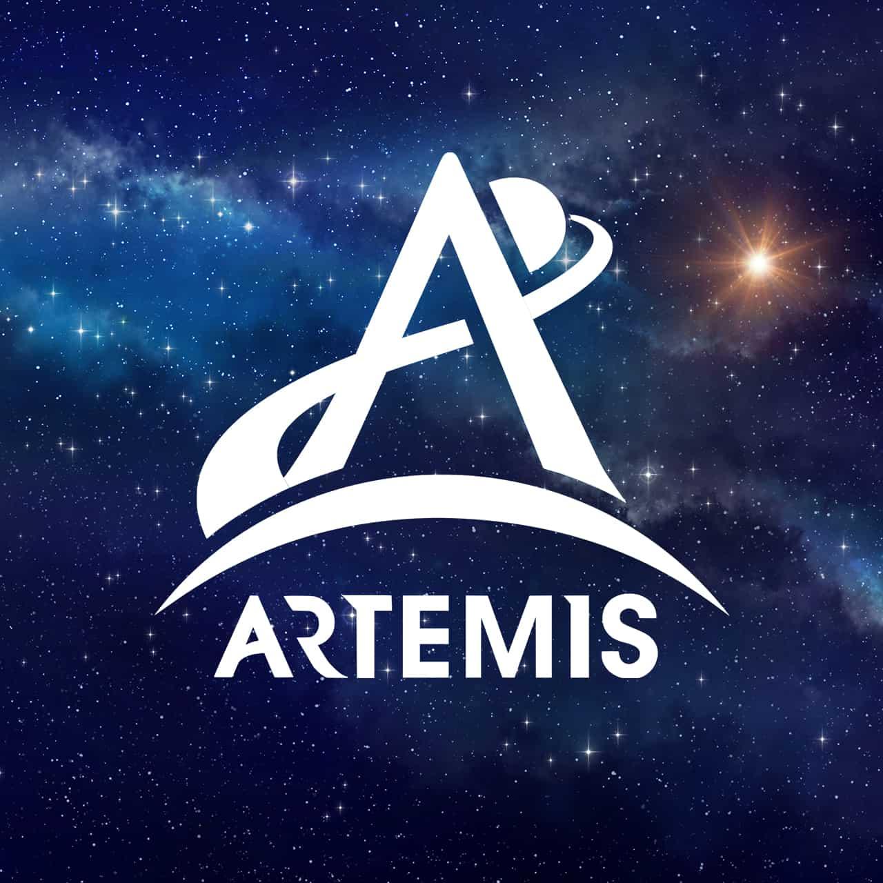Stars with Artemis NASA Logo