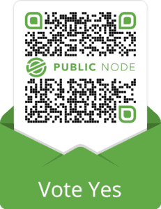QR Code for Public Node used for Voting Yes