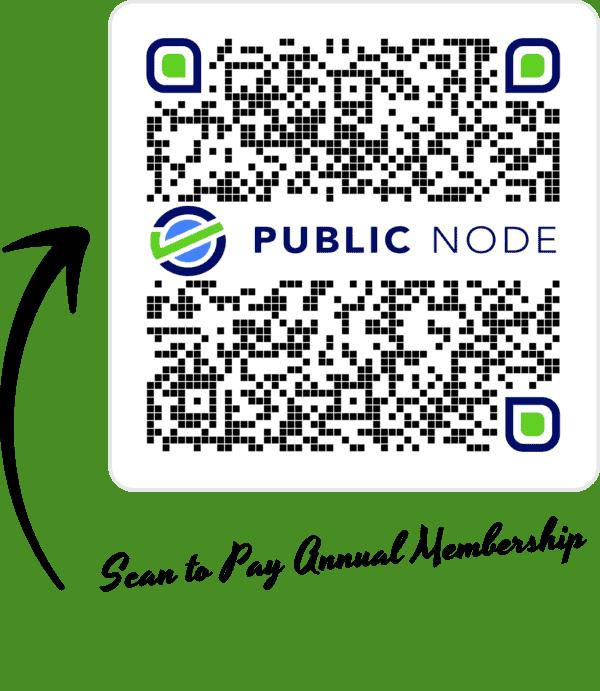 Public Node annual membership payment QR code