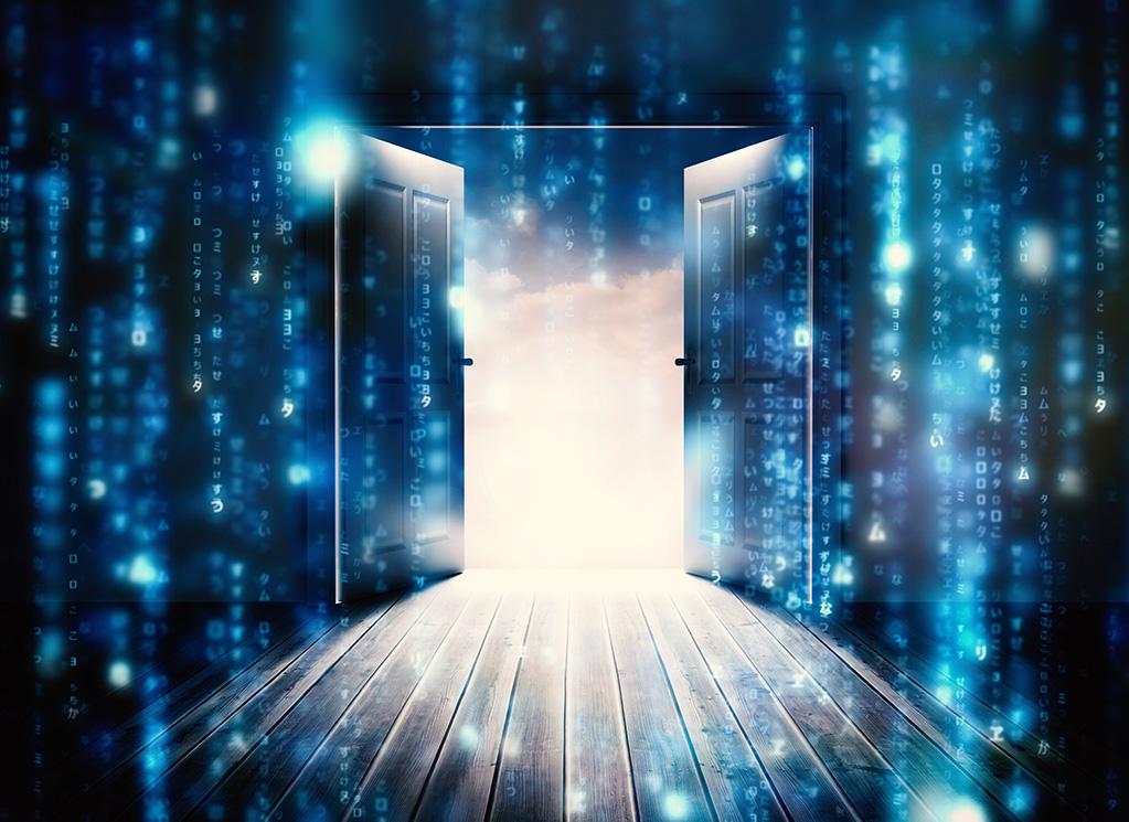 door opening with blockchain code